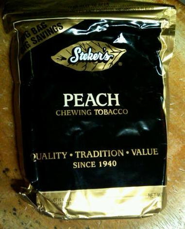 stoker s peach chewing tobacco 1lb