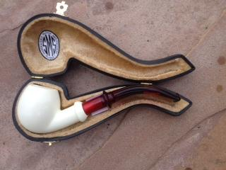 Meerschaum 1/2 bent Military Pipe & SMS Pipes Archives -