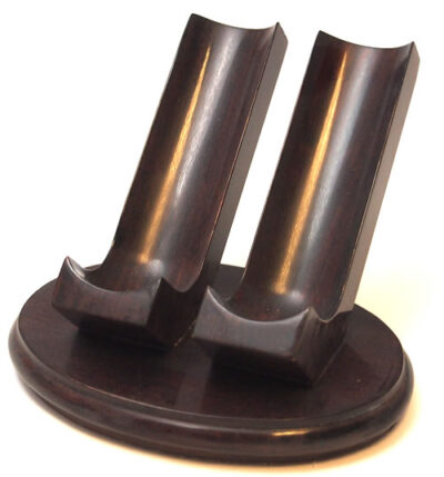 Woodmere Walnut Ebony 2 Pipe Rest (205W)