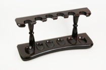 Woodmere walnut finish 6 pipe rack (215W)